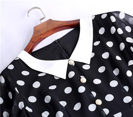 雪纺连衣裙细节
