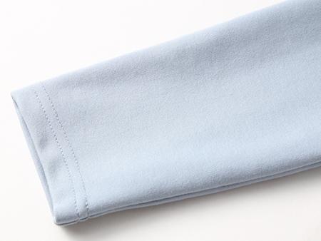 蓝色小香粗花呢连衣裙细节
