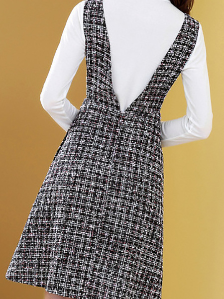 两件套背带连衣裙展示图1