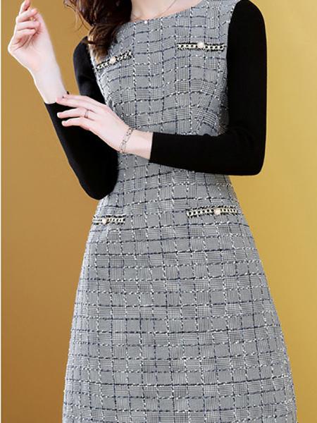 小香风连衣裙展示图