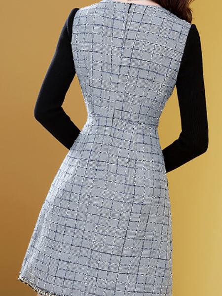小香风连衣裙展示图1