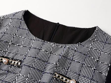 小香风连衣裙细节2