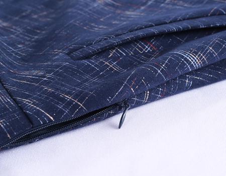 连针织连衣裙细节