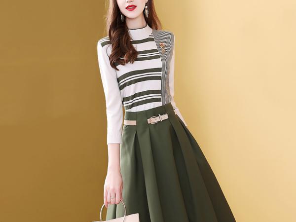 套装裙针织衫半身裙