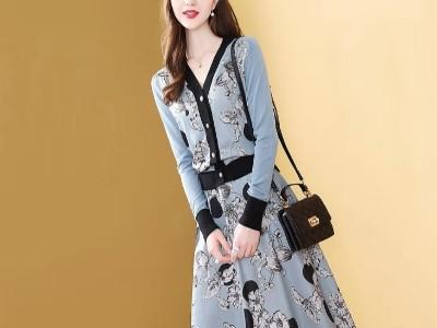 针织毛衣套装裙优雅气质毛线裙子两件套