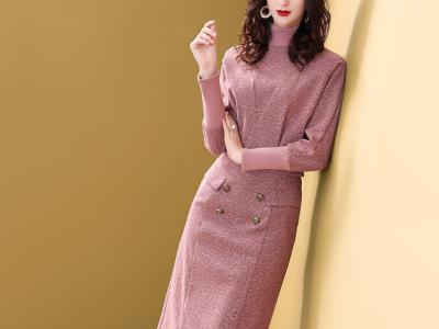 毛呢套装裙时尚洋气两件套裙子