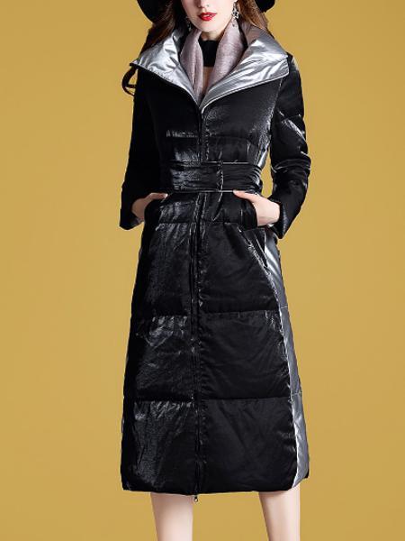 长款羽绒服女装长过膝修身显瘦外套