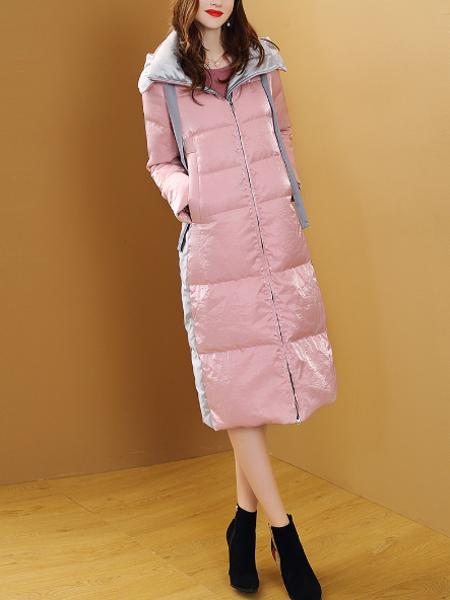 羽绒服显瘦外套粉色