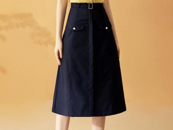 a字半身裙中长款高腰裙子