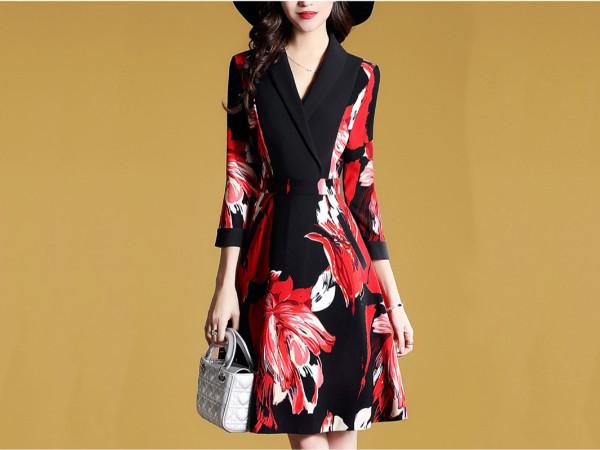 连衣裙女秋装新款法式复古气质流行裙子