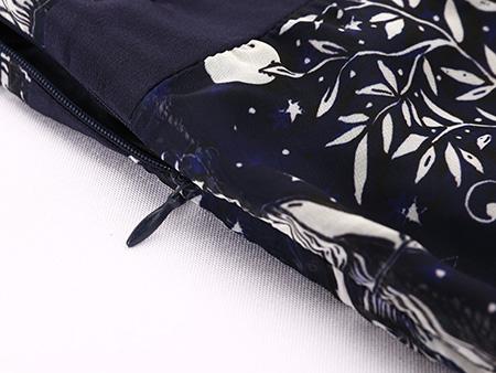 印花无袖雪纺连衣裙细节2