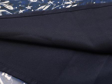 印花无袖雪纺连衣裙细节3