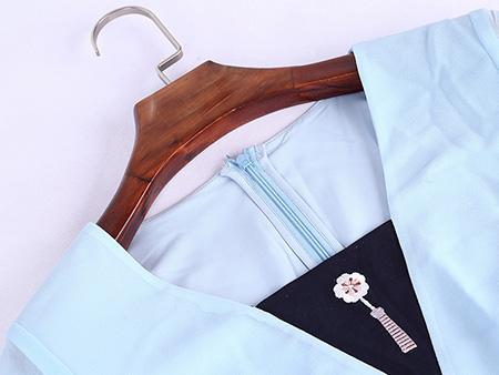 显瘦雪纺连衣裙细节