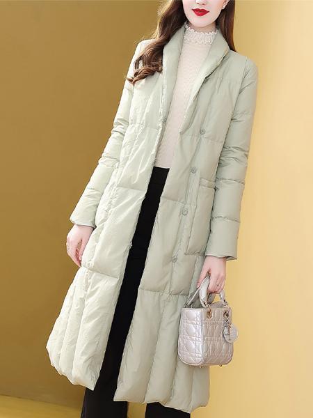 女中长款冬装时尚收腰过膝保暖外套.jpg