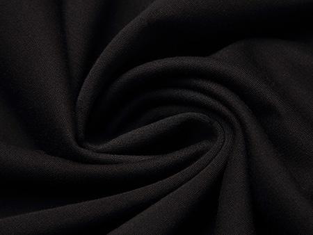 黑色袖子印花连衣裙细节