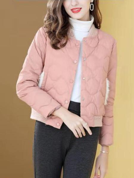 短羽绒服女短款立领轻薄休闲外套