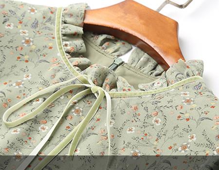 雪纺裙子细节展示
