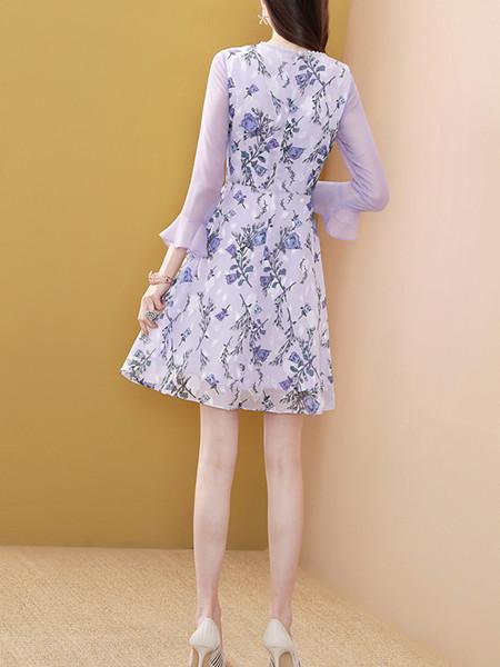 雪纺连衣裙定制